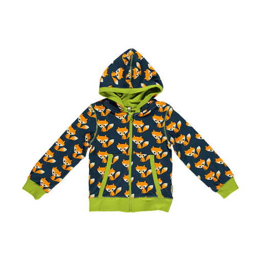 Foxes zip cardigan hoody by Maxomorra