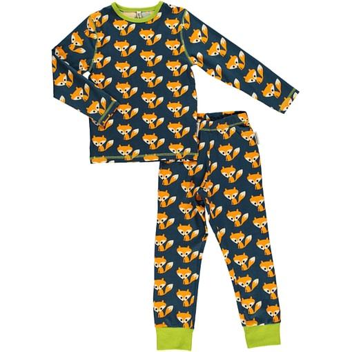 Fox print pyjamas in organic cotton by Maxomorra