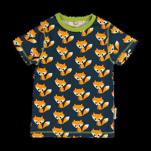 Foxes print organic cotton t-shirt by Maxomorra