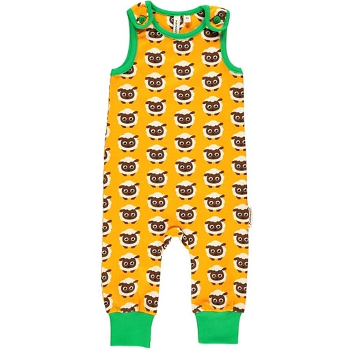 Sheep playsuit dungarees by Maxomorra in organic cotton (0-3m) 1