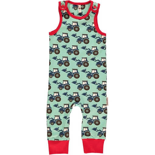 Organic cotton tractors dungarees by Maxomorra