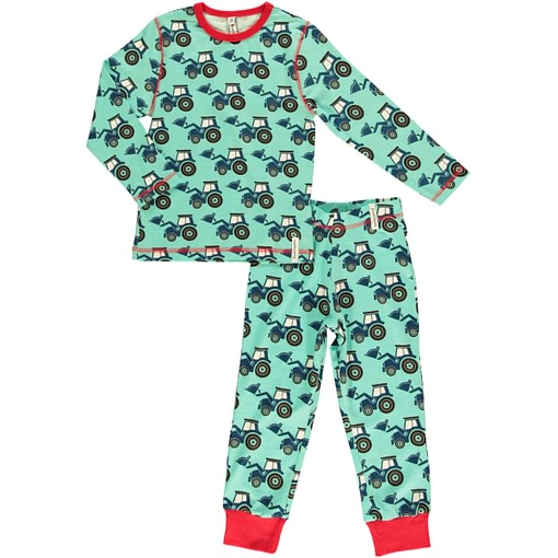 Tractors organic cotton pyjamas by Maxomorra