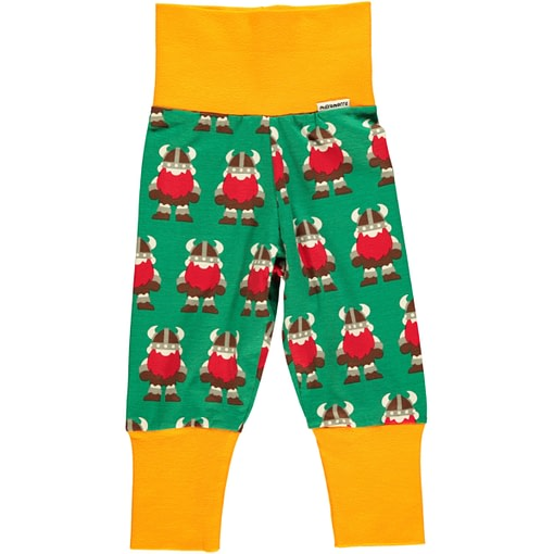 Vikings baby trousers by Maxomorra in organic cotton