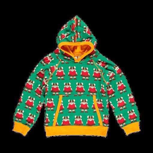 Vikings hoodie top by Maxomorra in organic cotton