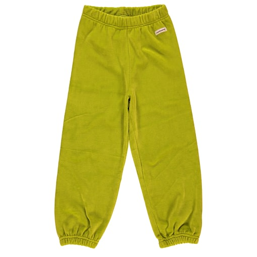 Lime green organic velour toddler and children's bottoms by Maxomorra (18-24m) 1