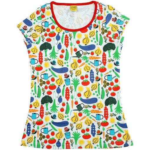 DUNS Sweden organic cotton ladies t-shirt in vegetable garden design (L) 1