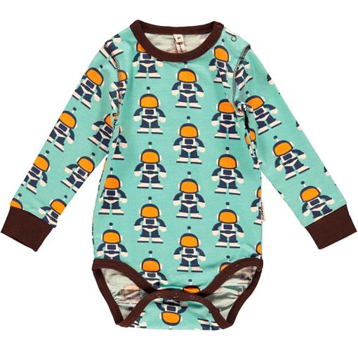 Astronauts baby bodysuit in organic cotton