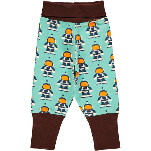 Astronaut baby trousers by Maxomorra on organic cotton (6-9m) 1