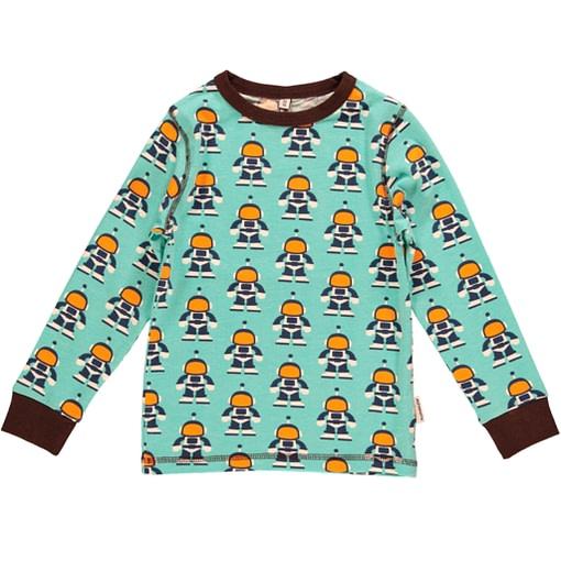 Maxomorra ~ Astronaut print organic cotton long sleeve top 1