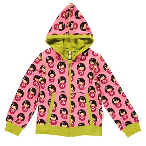 Dolls hooded zip cardigan by Maxomorra in organic cotton (Age 2-4) 1