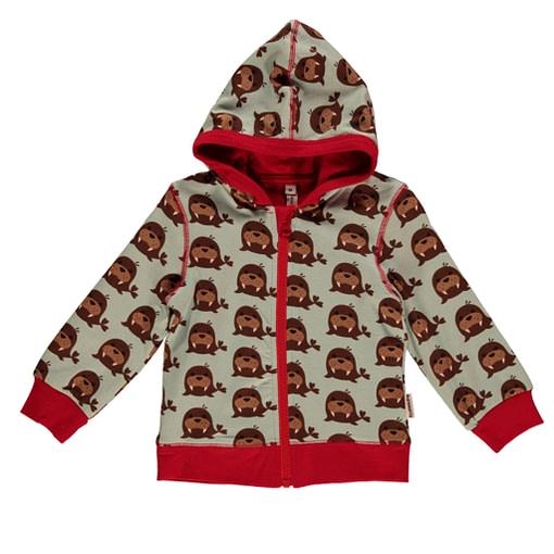 Walrus cardigan zip hoody by Maxomorra