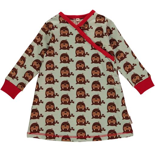 Maxomorra walrus print organic wrap over dress 1
