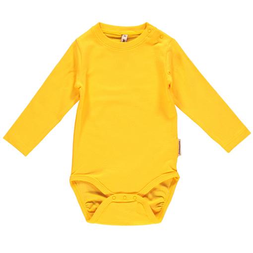 Mushroom baby trousers by Maxomorra on yellow organic cotton 4