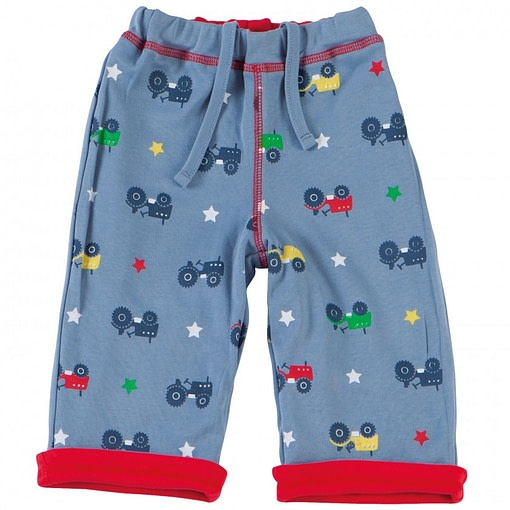 Tractor reversible trousers by Piccalilly in organic cotton 1