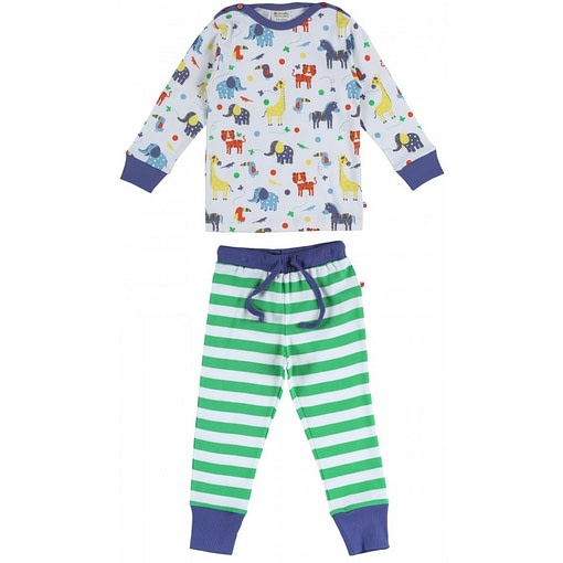 Jungle stripe pyjamas by Piccalilly in organic cotton (Age 1-2) 1