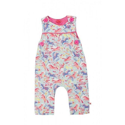 Magical horse print dungarees by Piccalilly
