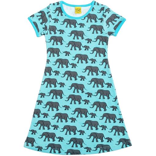 Elephant short sleeve dress by DUNS Sweden