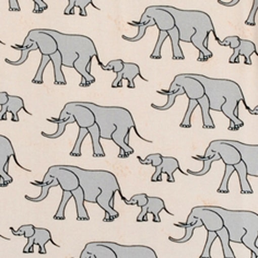 DUNS Sweden organic cotton ladies t-shirt in yellow elephants print (S) 3