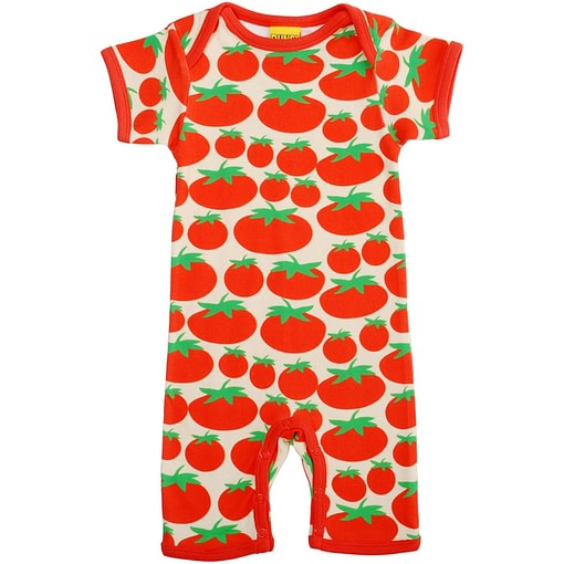 Tomatoes organic cotton summer romper by DUNS Sweden