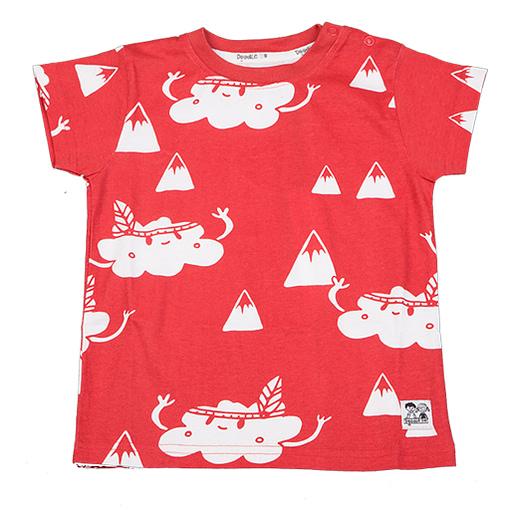 Doodle do organic cotton cloud mountain t-shirt (18-24m) 1