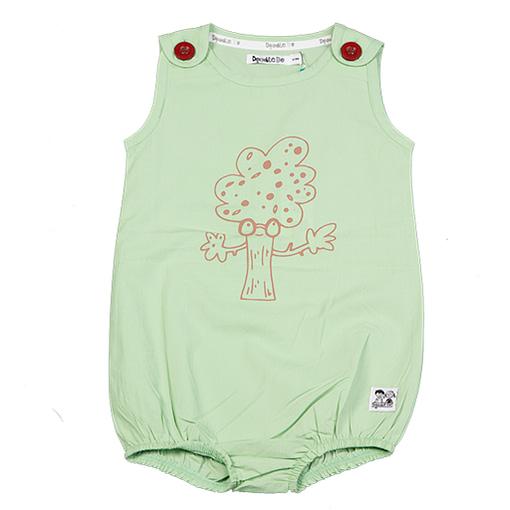 Doodle do organic cotton hugging tree romper (18-24m) 1