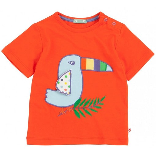 Toucan short sleeve t-shirt by Piccalilly in organic cotton (18-24m) 1