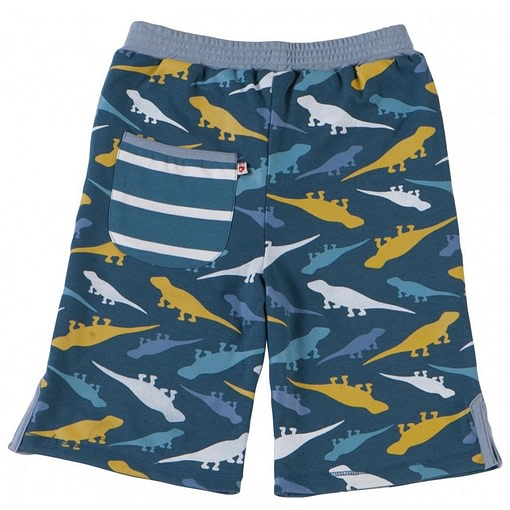 Lizard reversible summer shorts by Piccalilly in organic cotton 1