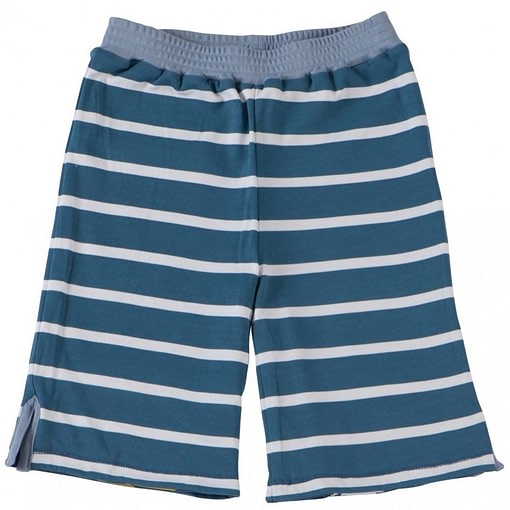 Lizard reversible summer shorts by Piccalilly in organic cotton 2