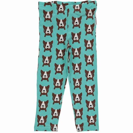 Maxomorra dog print organic cotton cropped leggings (Age 10-12) 1
