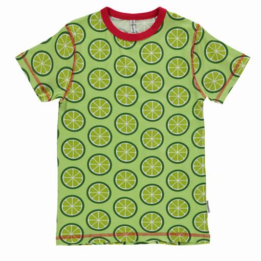 Maxomorra scandi limes print t-shirt