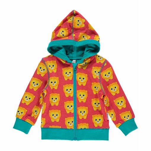 Lions toddler zip hooded top by Maxomorra