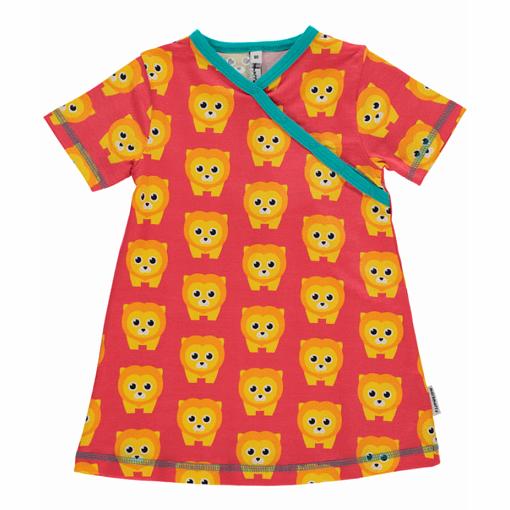 Lion print organic cotton summer toddler dress