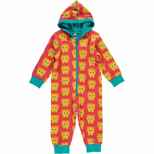 Lion print onesie pyjamas in organic cotton