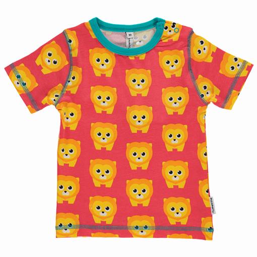 Lion print Maxomorra short sleeve t-shirt