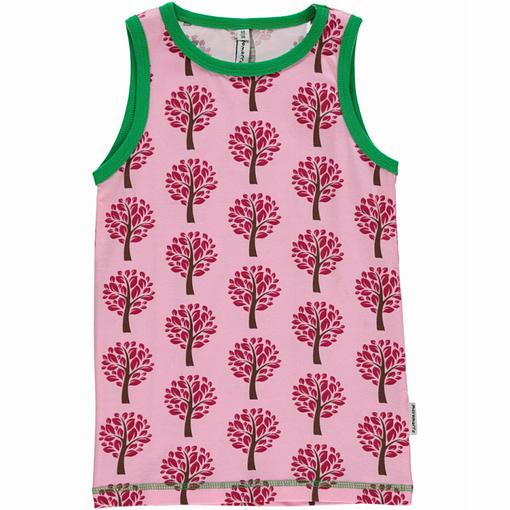 Tree print Maxomorra organic cotton vest