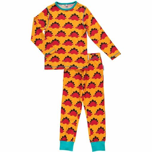 Maxomorra organic cotton pyjamas in dinosaur print 1