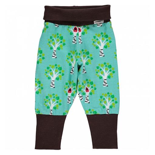 Birch tree print organic cotton baggy trousers by Maxomorra (62cm 2-4 m) 1