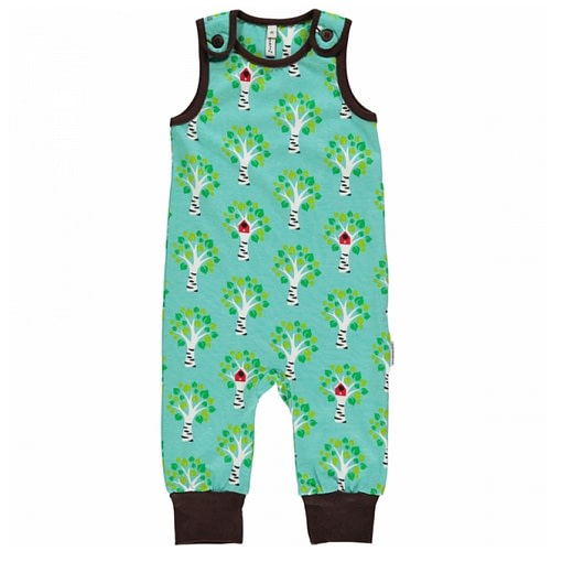 Birch tree playsuit dungarees by Maxomorra in organic cotton 1