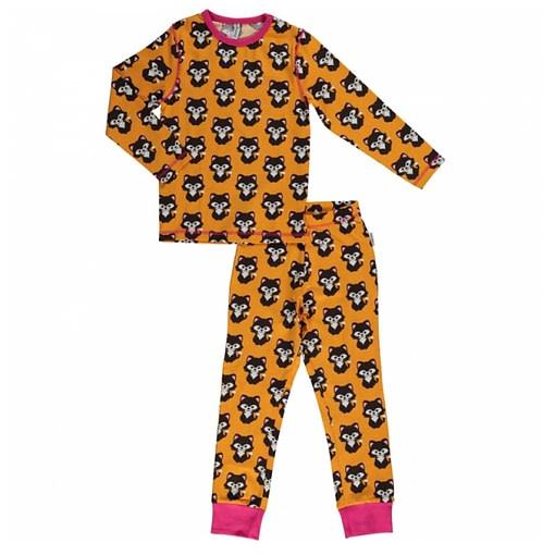 Maxomorra organic cotton pyjamas in cat print (18-24 months) 1