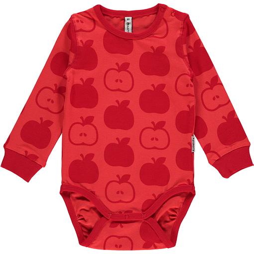Maxomorra mono apples baby vest