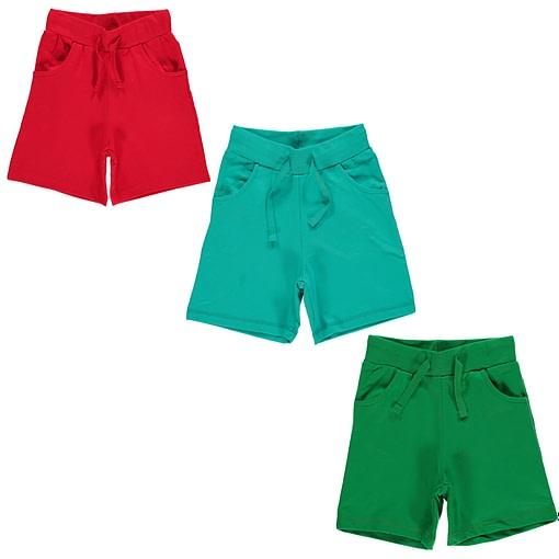Organic toddler knee length shorts Maxomorra Basics | Turquoise (12-18m 86cm) 1