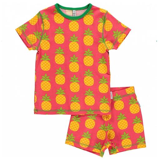 Maxomorra organic summer short sleeve pineapple pyjamas (Age 2-4) 1