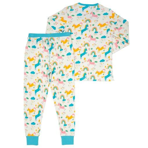 Dreamer pyjamas in organic cotton rainbows and unicorns print by Kite 4