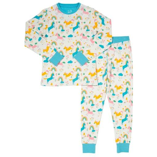 Dreamer pyjamas in organic cotton rainbows and unicorns print by Kite 1