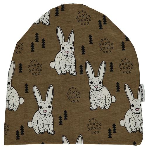 Bunny Rabbit organic cotton beanie hat from Maxomorra (Under 2 Size 48/50) 1