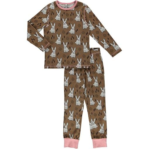 Maxomorra organic cotton pyjamas in rabbit print 1