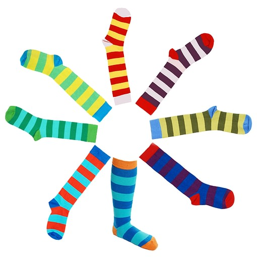 DUNS Sweden organic cotton stripy knee high socks 1