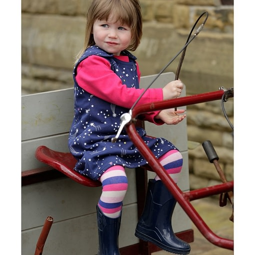 Galaxy and reversible stripe dress by Piccalilly (92cm 18-24m) 3