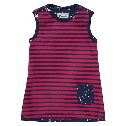 Galaxy and reversible stripe dress by Piccalilly (92cm 18-24m) 2