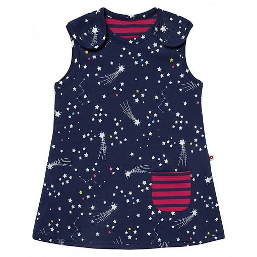 Galaxy and reversible stripe dress by Piccalilly (92cm 18-24m) 1